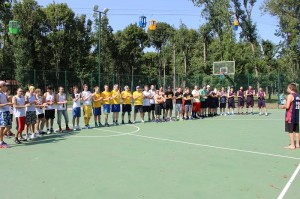начало IT кубка по стритболу Харьков 2014